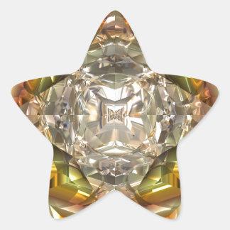 Modern design diamond ornament star sticker