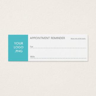 Modern Design Generic Purpose Appointment Reminder Mini Business Card