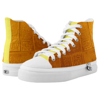 Modern Design on High Tops Printed Shoes