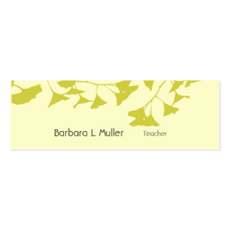 Modern Design with Ginkgo Sharp Nature Pack Of Skinny Business Cards