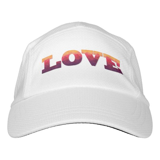 Modern design word Love in ombre colours Hat