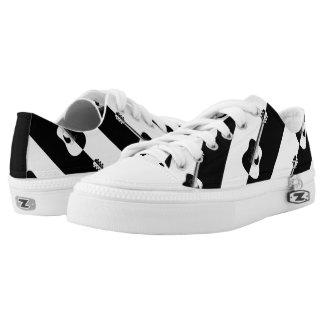 Modern designer black and white guitar sneakers