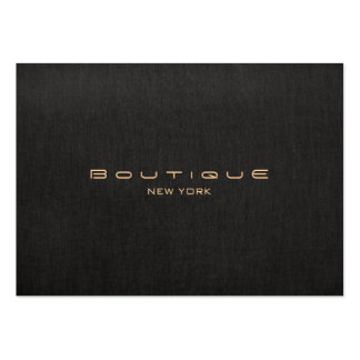 Modern Designer Faux Black Linen Professional Pack Of Chubby Business Cards