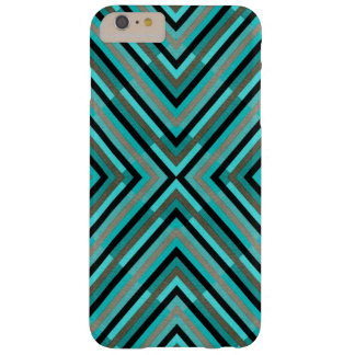 Modern Diagonal Checkered Shades of Green Pattern Barely There iPhone 6 Plus Case