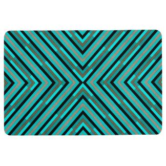 Modern Diagonal Checkered Shades of Green Pattern Floor Mat