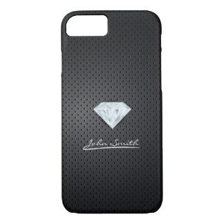 Modern Diamond Dark Metal iPhone 7 Case