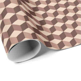 Modern Diamond Grid, Taupe, Brown and Beige