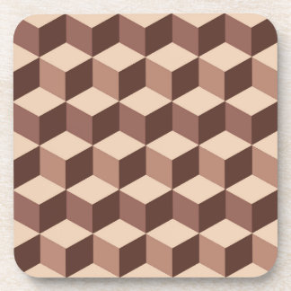 Modern Diamond Grid, Taupe, Brown and Beige Coaster