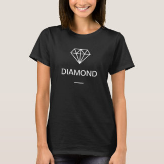 Modern Diamond Logo Black and White T-Shirt