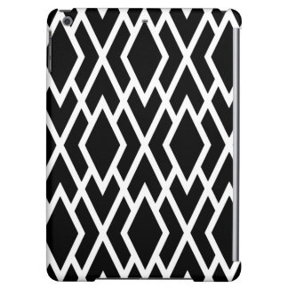 Modern Diamonds Black and White Geometric