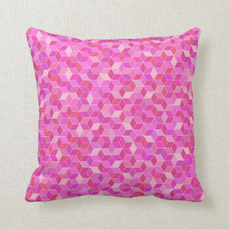 modern digital geometric pink Pillow