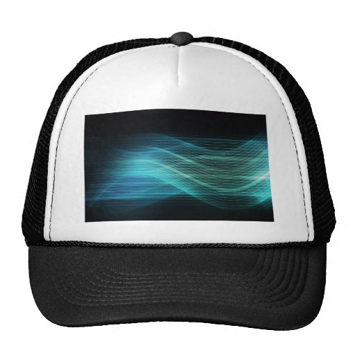 Modern Digital Soundwave Futuristic Abstract Hats