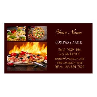 Modern diner catering deli shop food service pack of standard business cards