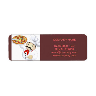 Modern diner catering deli shop food service return address label