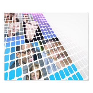 Modern Diversity People and Faces Collage Photographic Print