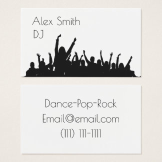 modern dj party people dance business card