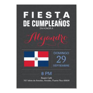 Modern: Dominican Republic Party 13 Cm X 18 Cm Invitation Card