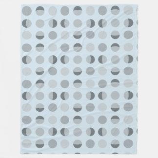 Modern Dot Baby Blue Fleece Blanket