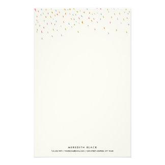Modern Dot Personalized Stationery Sheets-Rainbow