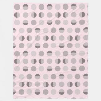 Modern Dot Pink Fleece Blanket