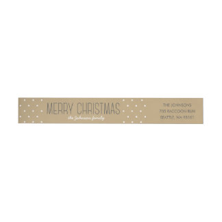 Modern Dots Christmas Wraparound Address Label