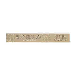 Modern Dots Christmas Wraparound Address Label