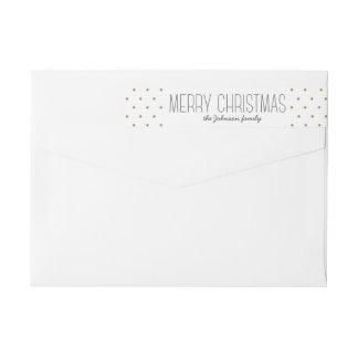 Modern Dots Christmas Wraparound Address Labels Wraparound Return Address Label