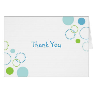 Modern Dots Circles Thank You Note Cards