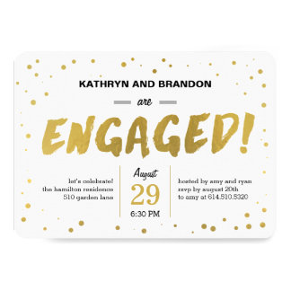 Modern Dots Engagement Party or Shower Invitations