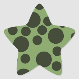 Modern Dots Green Pattern Star Stickers