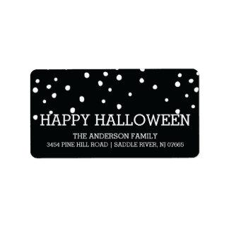 Modern Dots Happy Halloween Return Address Address Label
