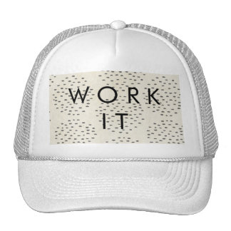Modern Dots Ivory & Black Tiny Dot Print Trucker Hat