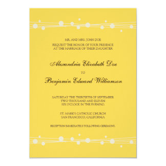 Modern Dots & Straw Wedding Invitation (yellow)