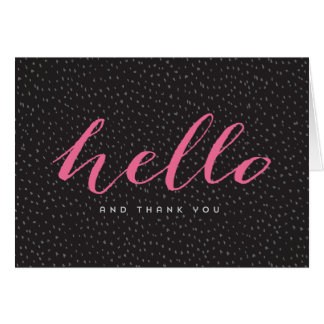 Modern Dots Thank You Cards - Black and Pink