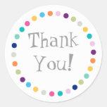 Modern Dots Thank You Sticker