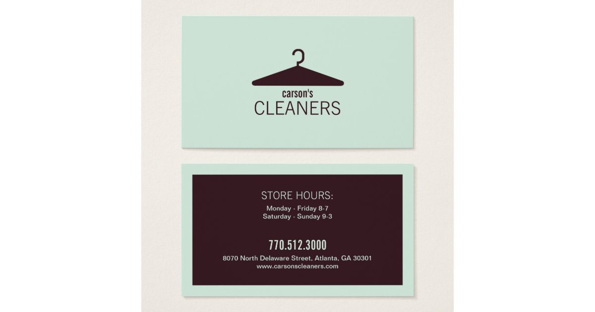 Modern dry cleaning business card zazzle for Dry cleaners business cards