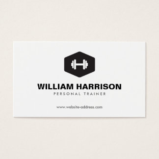 MODERN DUMBBELL LOGO FOR PERSONAL TRAINER, FITNESS BUSINESS CARD