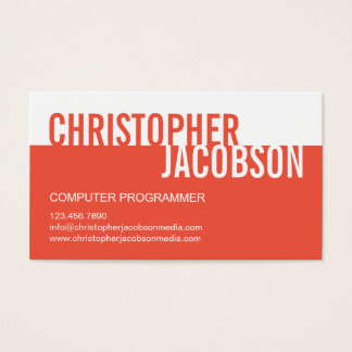Modern Duotone Business Card - Orange