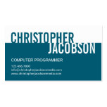 Modern Duotone Business Card - Teal
