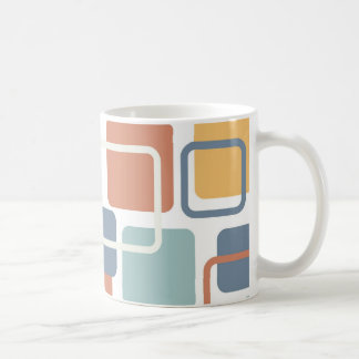 Modern Eames Rectangles 3 Coffee Mug