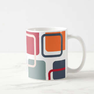 Modern Eames Rectangles 4 Coffee Mug
