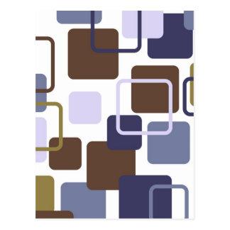 Modern Eames Rectangles 5 Postcard