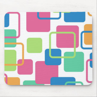 Modern Eames Rectangles 7 Mouse Pad