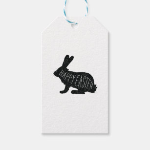 Happy easter tag gifts on zazzle au modern easter bunny gift tag happy easter negle Image collections