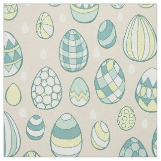 Modern Easter Egg Drawing Pattern Fabric