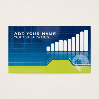 Modern economic or financial business card