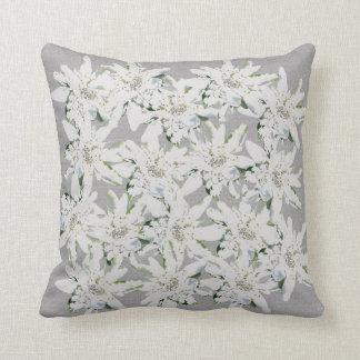 Modern Edelweiss Swiss alpine flowers photo art Cushion