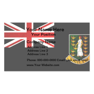 Modern Edgy B.V. Islander Flag Business Card