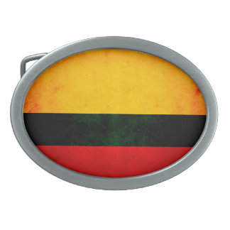 Modern Edgy Colombian Flag Oval Belt Buckle