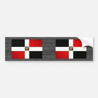 Modern Edgy Dominican Flag Bumper Sticker